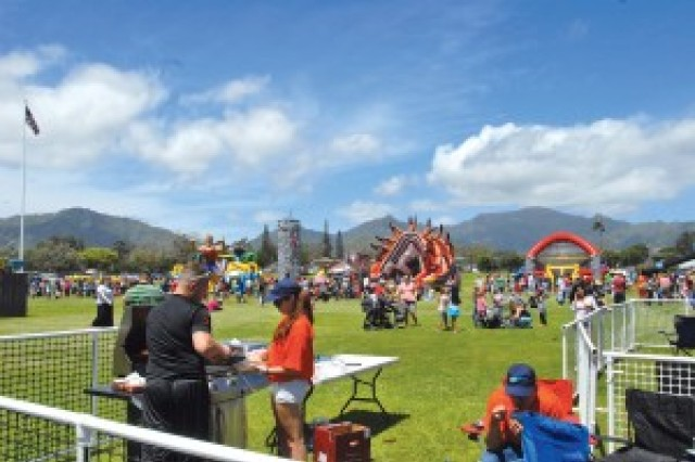 Participants enjoy the 2014 U.S. Army Garrison-Hawaii Fun Fest at Weyand Field, Schofield Barracks.