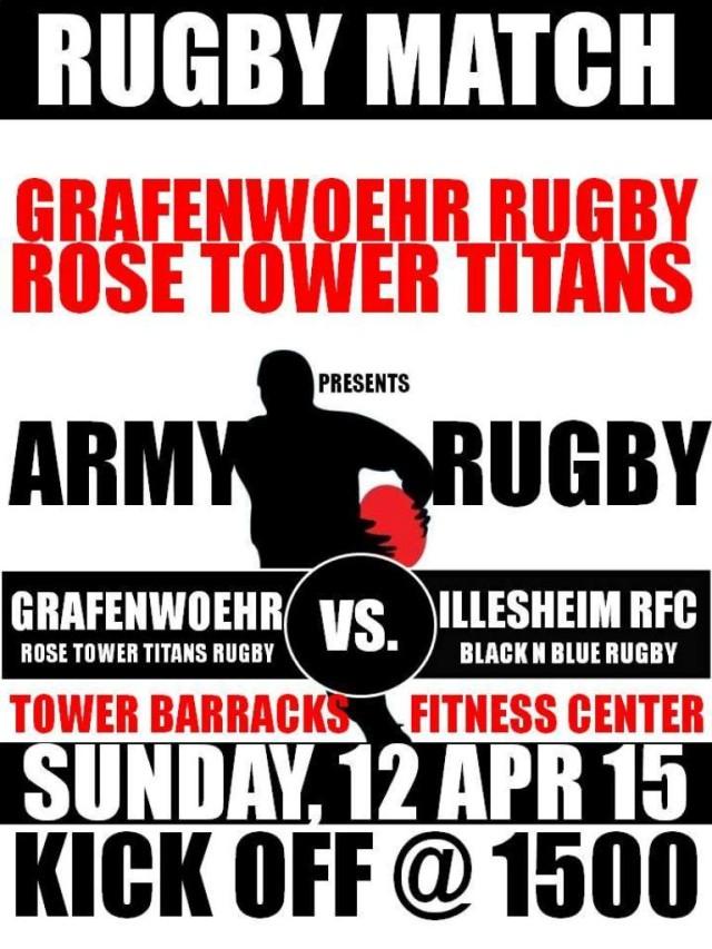 Grafenwoehr Rugby match