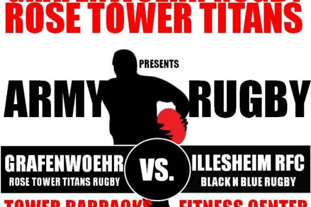 Our Rose Tower Titans rugby club plays at 3 p.m. Sunday at the Tower Barracks Fitness Center field.