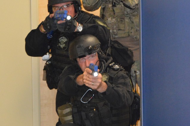 A mass casualty training exercise April 7, 2015, at Fort Jackson, S.C., involved members of post and regional law enforcement, fire departments, and emergency medical response units from five area hospitals.