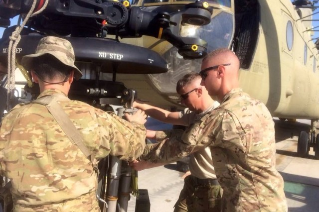 Soldiers, from 1100th Theater Aviation Sustainment Maintenance Group, a Maryland National Guard unit from Edgewood, Md., retrograde 16 airframes and $260 million in Class IX equipment from theater during their nine-month deployment in Afghanistan.