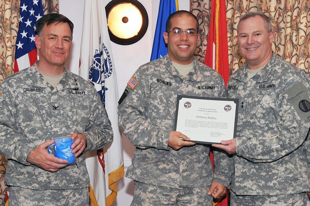 Army Sgt. Anthony Robles honored for volunteerism