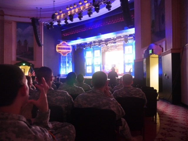 AIT students watch a sneak preview of the Soldier Show