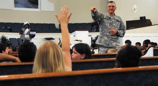 Lightning Brigade chaplain ministers to Fayetteville children