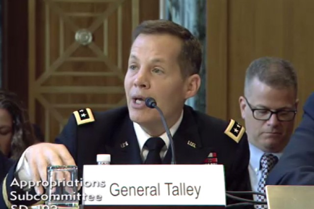 Lt. Gen. Jeffrey Talley, chief of the Army Reserve and commander of the U.S. Army Reserve Command, testifies during the Senate Appropriations Committee - Defense subcommittee on the Fiscal Year 2016 National Guard and Reserve Budget in Washington, D.C., April 29, 2015.