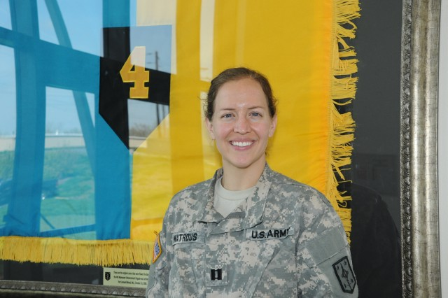 Capt. Jymette Watrous, 4th Maneuver Enhancement Brigade S-4 logistics officer, completed the Soldier for Life internship program and will have her real estate license and a job before she officially leaves the military in May.