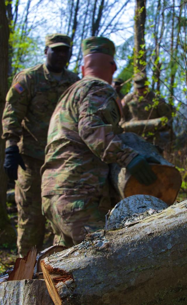 U.S. Soldiers Volunteer in Latvia