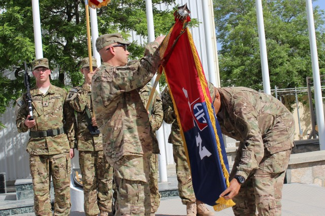 Task Force Pale Horse, 82nd Combat Aviation Brigade transferred authority to Task Force Destiny, 101st Aviation Brigade at Bagram Airfield, Afghanistan May 2, 2015