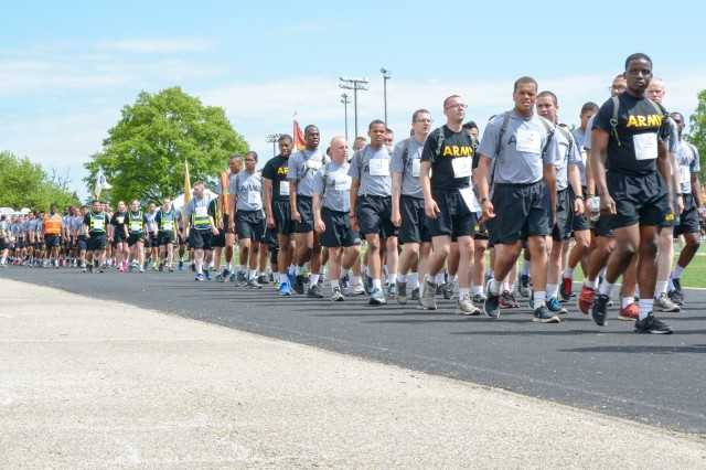 """Participants of the """"Run for the Fallen"""" completing the 1-mile route, at Fort Lee, Va. Saturday, May 2, 2015"""