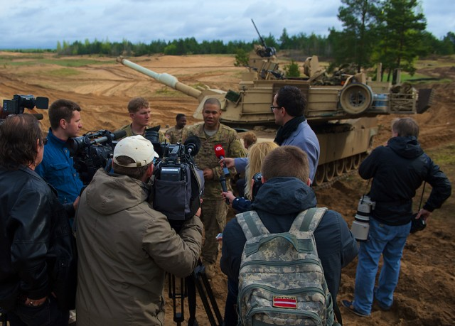 Fort Stewart Soldiers conduct tank gunnery in Latvia