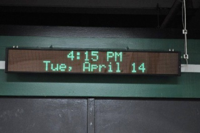 A new electronic message board was installed as a component of the Audio Visual Notification System at the Lake City Army Ammunition Plant.
