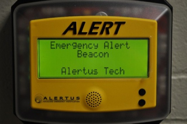 A new Emergency Alert Beacon was installed as a component of the new Audio Visual Notification System at the Lake City Army Ammunition Plant.
