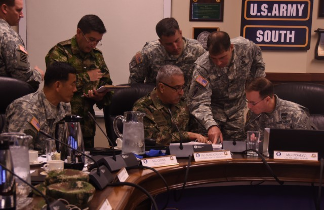 Army South hosts U.S.-Colombia Bilateral Army Staff Talks Executive Meeting