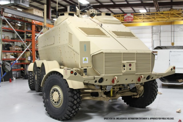 """""""The Concept for Advanced Military Explosion-mitigating Land Demonstrator (CAMEL) is one of many displays which will be shown by the Army at the 2015 DoD Labs Day."""""""