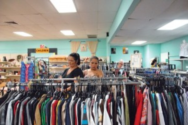 Patrons browse items at the Schofield Barracks Thrift Shop.