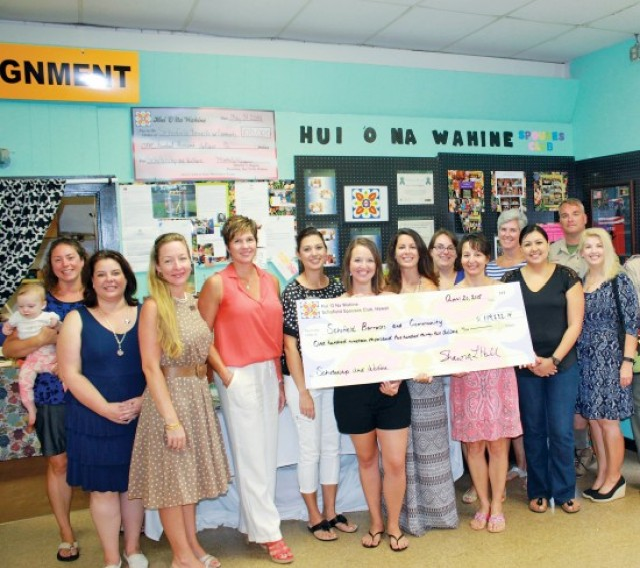 Hui, spouses club, donations, thrift shop, welfare grants, scholarships, awards