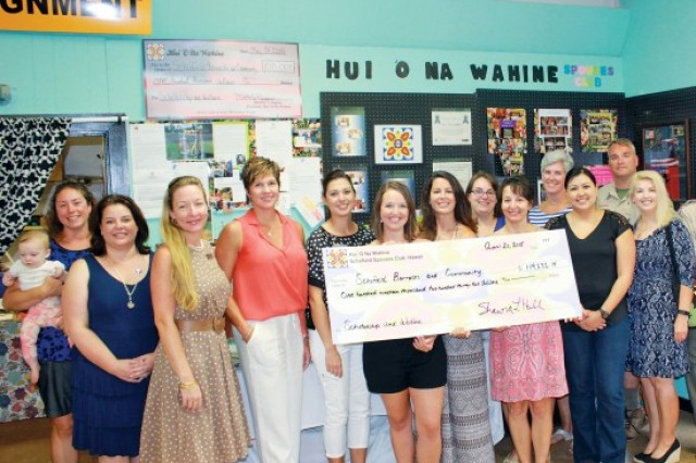 The Hui 'O Na Wahine, the Schofield Barracks All Ranks Spouses Club, awards nine merit scholarships totaling about $20,000 to military family members. The Hui annually raises money to support a variety of Hawaii programs.