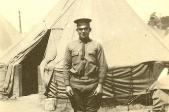Sgt. William Shemin is shown in a photo at Camp Greene, North Carolina, 1917.