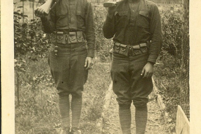 Photo of Sgt. William Shemin (right) and another Soldier.