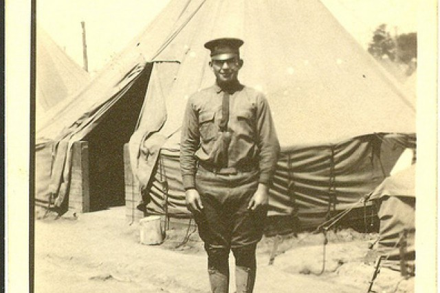 Photo of Sgt. William Shemin at Camp Greene, North Carolina, 1917.