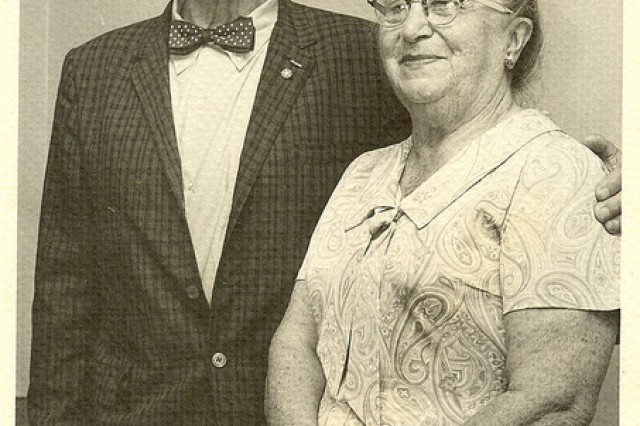 Photo of William and Bertha Shemin on their wedding anniversary, 1950s.