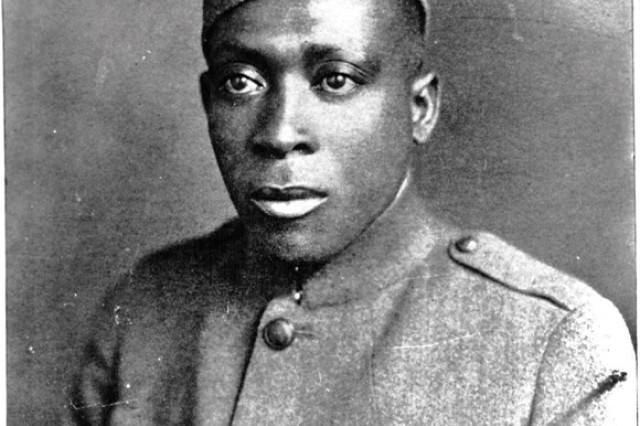 Sgt. Henry Johnson in 1919, wearing his Croix de Guerre.