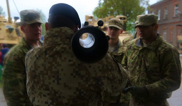 Soldiers Celebrate Gauja Day in Latvia