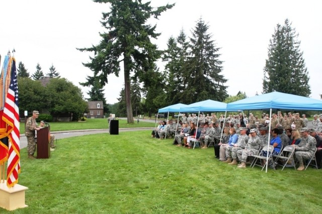 The 7th Infantry Division holds a deployment ceremony May 19, to commemorate the departure of a headquarters element that will assume the Train, Advise and Assist Command - South mission in Afghanistan.