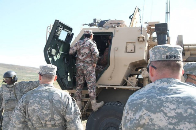 The 17th Field Artillery Brigade welcomed the Jordanian Armed Forces to Joint Base Lewis-McChord on April 24. The brigade command team hosts and tour representatives from the JAF around brigade footprint and introduces them to HIMARS live-fires at Yakima Training Center.