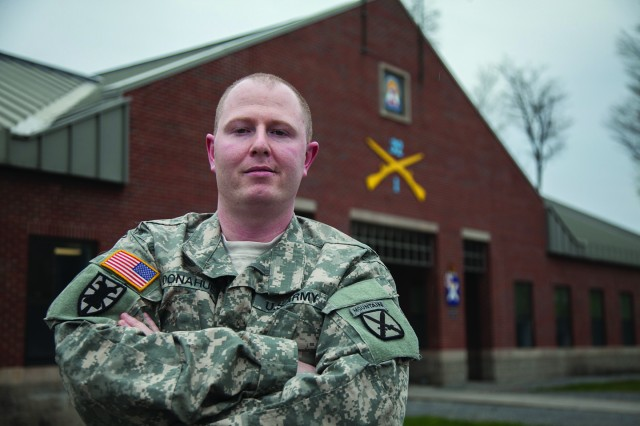 Staff Sgt. Timothy Donahue, career counselor for 1st Battalion, 32nd Infantry Regiment, 1st Brigade Combat Team, recently closed out his third quarter mission on the very first day. More important to Donahue than numbers, however, is taking take care of Soldiers and their Families.