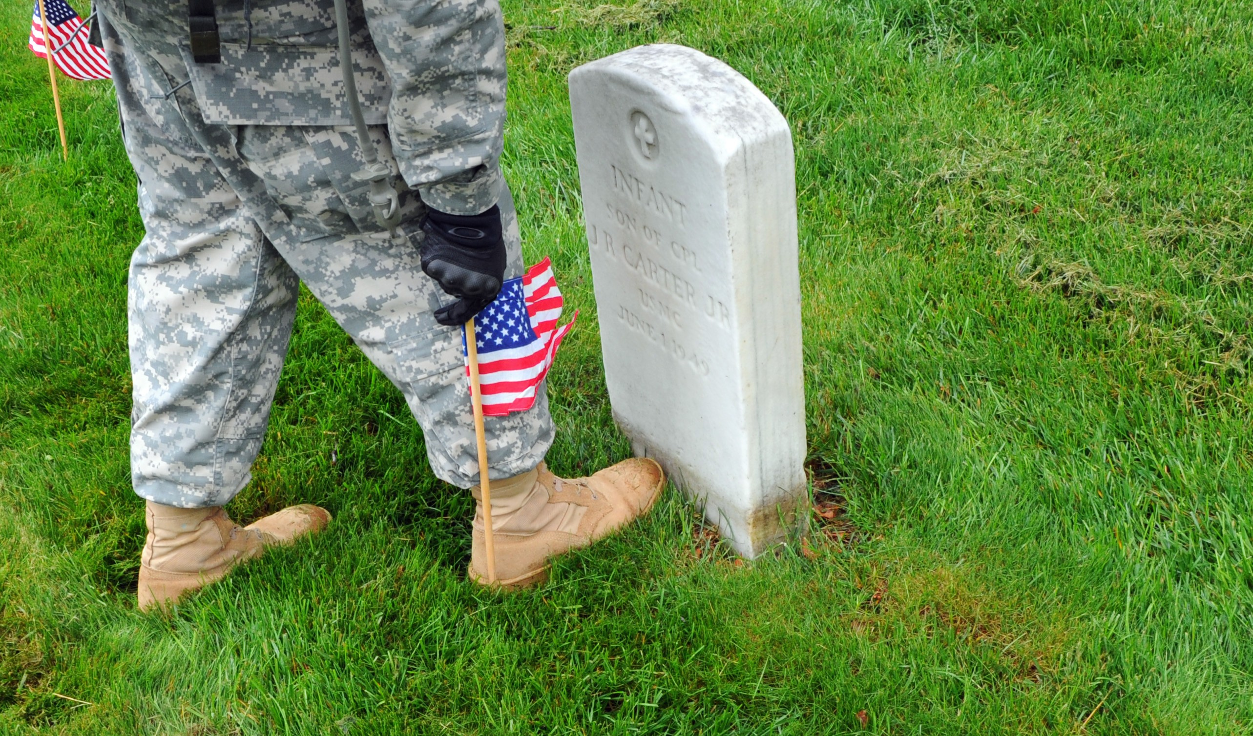 Soldiers Participate During Flags In At Arlington Cemetery