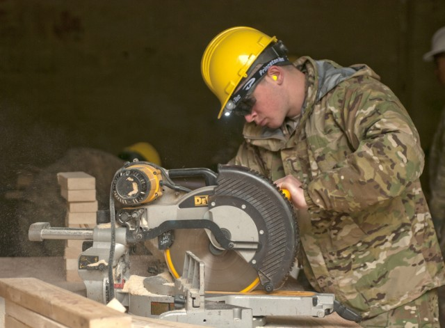 US Army engineers help improve training areas