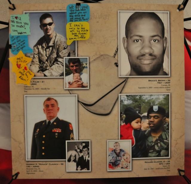 Images of Alabama's fallen heroes on display