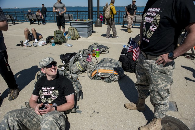 Chicago ruck march held in honor of struggling veterans