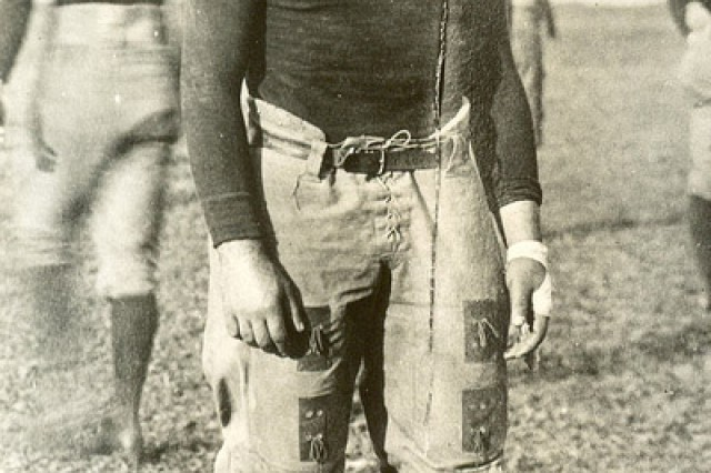 William Shemin is shown in his football gear for the Syracuse Varsity football team.
