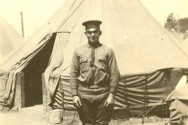 William Shemin is shown at Camp Greene, N.C., 1917.