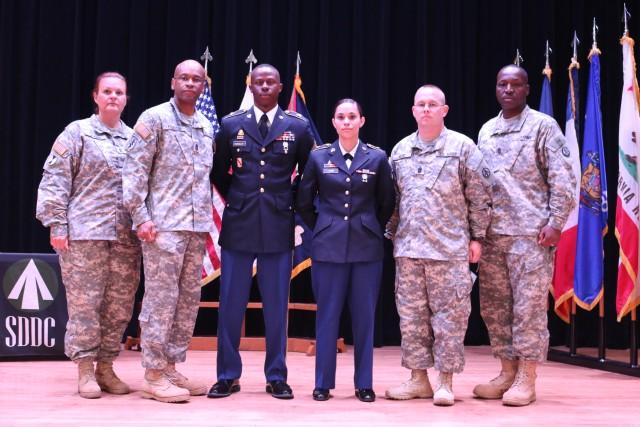 Staff Sgt. Armond Evansscott and Spc. Austi-Ana Lamb named SDDC Best Warriors