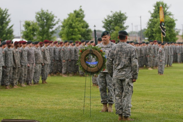 Family Members and Soldiers honored the fallen Legionnaires of the 5th Special Forces Group (Airborne), also known as The Legion, during the annual 5th SFG (A) Memorial Ceremony on Gabriel Field May 16, 2015.