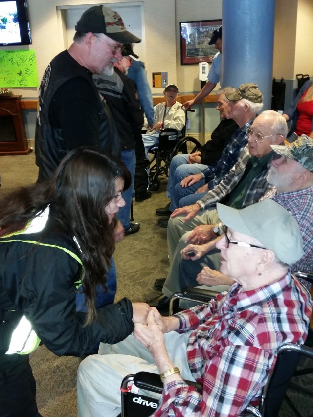 A visit with the veterans