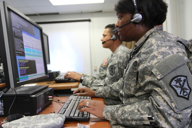 Soldiers, with U.S. Army Cyber Command's 780th Military Intelligence Brigade, take part in network defense training. U.S. Army Human Resources Command announced the personnel transition strategy and procedures for reclassification to Military Occupational Specialty 17C, cyber operations specialist, for active-duty Army enlisted personnel, June 3, 2015.