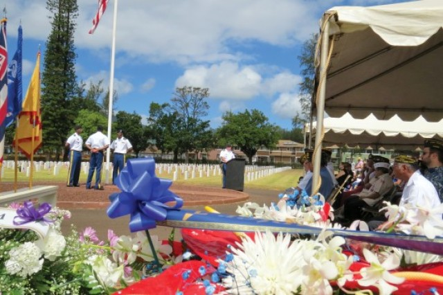 Memorial Day 2015 at the Schofield Barracks Post Cemetery includes comments from the U.S. Army Garrison-Hawaii commander, Col. Richard Fromm.