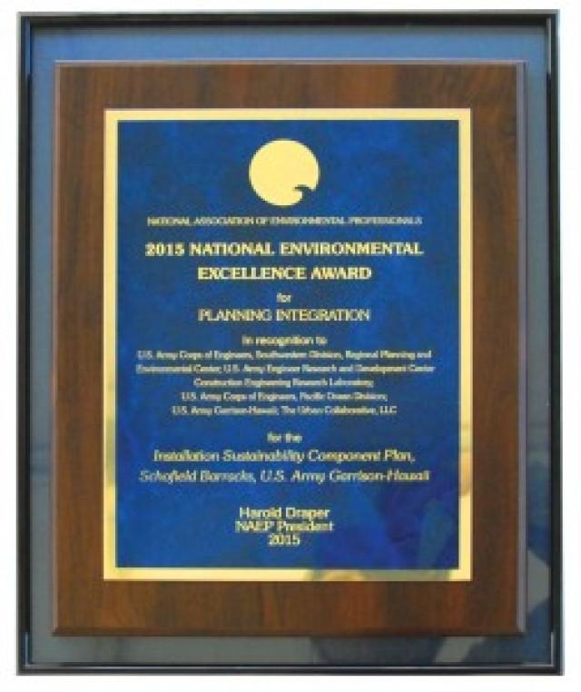 National organizations recognize Schofield pilot project
