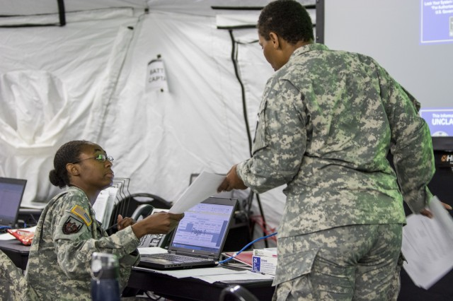 Soldiers and leaders from the 416th Theater Engineer Command took part in a week-long staff exercise (STAFFEX) this June in Darien, Ill., as part of a three-year validation process to execute as a theater-level Joint Task Force headquarters.