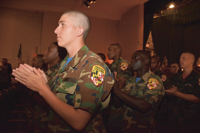 Cadets celebrate MDNG Military Youth Corps Freestate ChalleNGe Academy Completion