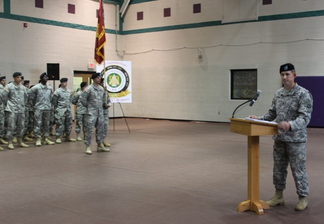 597th Trans. Bde. commander speaks at Change of Command Ceremony