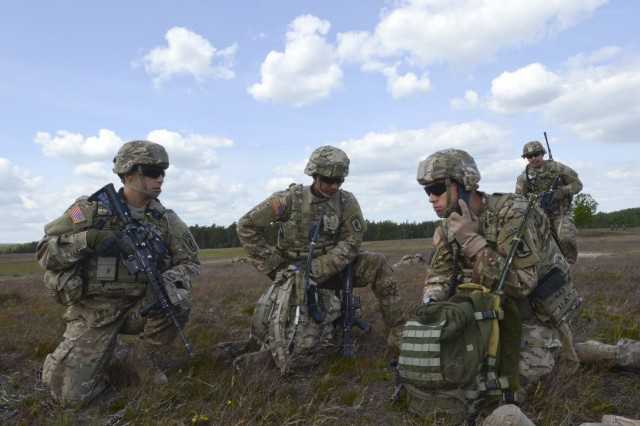 U.S. Army paratroopers from the 173rd Airborne Brigade and Finnish marines from the Nyland Brigade conduct a combined air assault mission from HMS Ocean, a British Royal Navy warship off the coast of Sweden during BALTOPS 15 here June 10, 2015.  BALTOPS is an annually recurring multinational exercise designed to enhance flexibility and interoperability, as well as demonstrate resolve of allied and partner forces to defend the Baltic region. (U.S. Army photo by Sgt. A.M. LaVey/173rd Abn. Bde. Public Affairs)