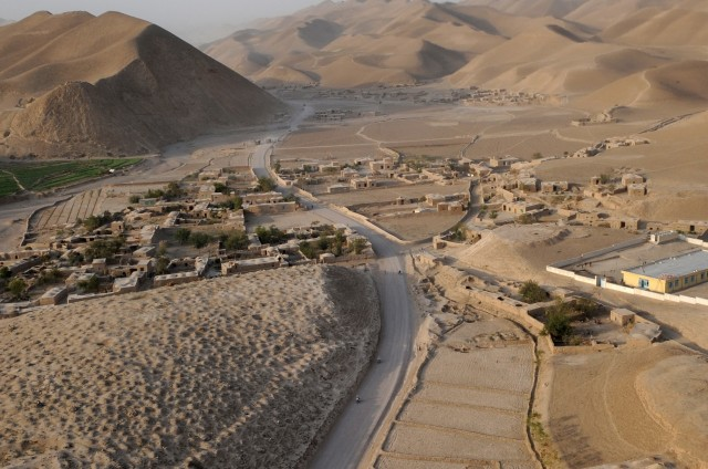 The view of a western Afghanistan village