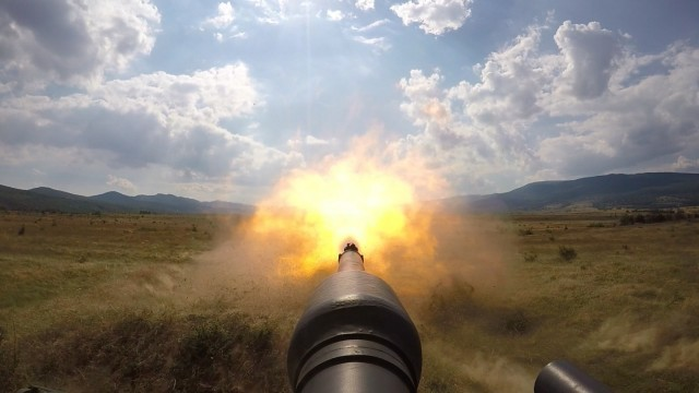 M1A2 Abrams Tank Live Fire Bulgaria