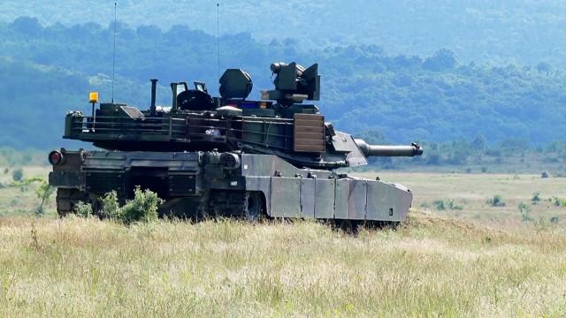 M1A2 Abrams tank live-fire Bulgaria