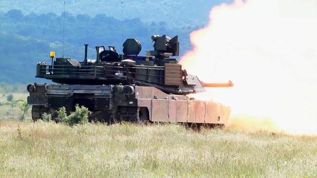 Tank live fire in Bulgaria